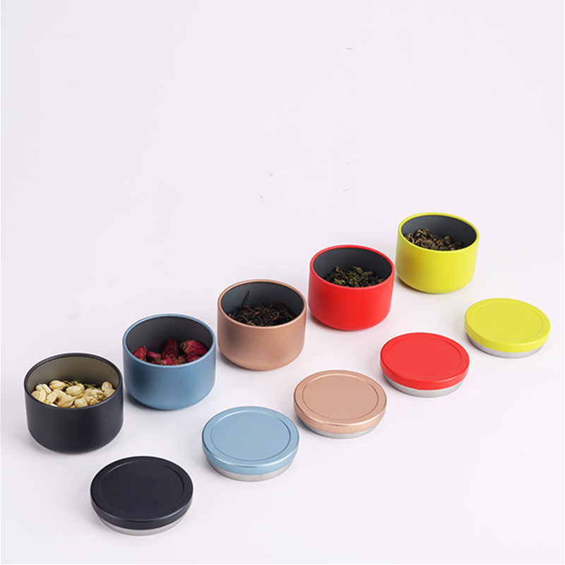 95ML Tea Can Travel Portable Flower Tea Packaging Sealed Cans Metal Trumpet Creative Black Tea Small Tea Cans Tin Box