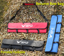 New Hunting Recurve Bow Bag Portable Foldable Polyester Oxford Red/Black/Blue 3 Colors Bow Case for Outdoor Archery shooting black archery bow page 3