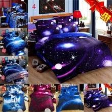 Galaxy Stars 3D Pringting Bedding Sets Quilt Cover Pillowcase Set Home Textile National Design 2/3Pcs Fantsey