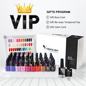 Image 2 - 62pcs*7.5ml VENALISA Gel Polish Nail Art Salon Manicure Wholesale Soak off Base No Sticky Topcoat UV LED Nail Gel Varnish Kits