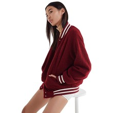 Plush jacket coat women zipper short baseball uniform BF female campus long sleeve Autumn winter Fashion casual outwear new цены онлайн