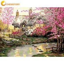 Картина по номерам на холсте розовый цветок 60 х75 см