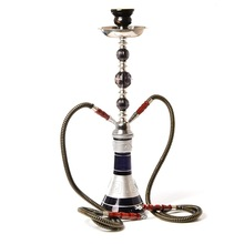 Chicha Complete Glass Arab Hookah Set Smoking Shishas Water Pipe Hose Tobacco Bowl Double pipe Provost