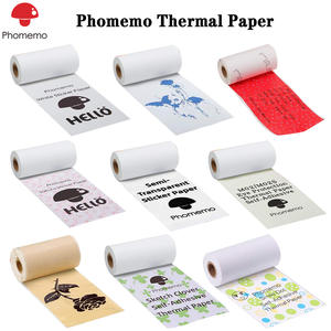 Phomemo Thermal Paper Printable Sticker Printer Self Adhesive Label Transparent Paper