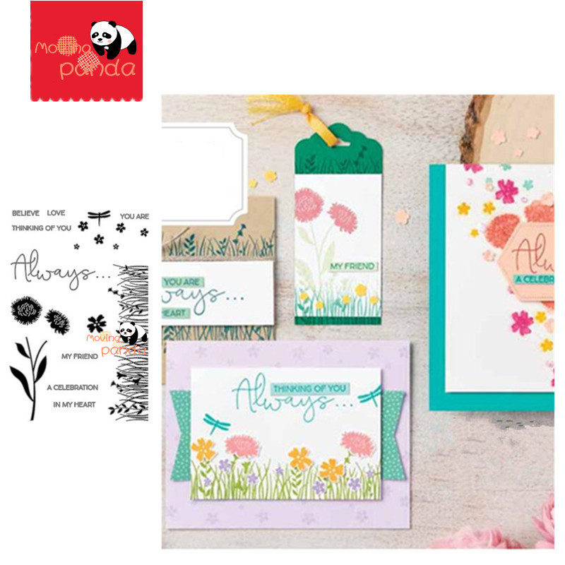 MP150 FIELD OF FLOWERS Metal Cutting Dies And Stamps For DIY Scrapbooking Photo Album Embossing Paper Cards Decorative Crafts