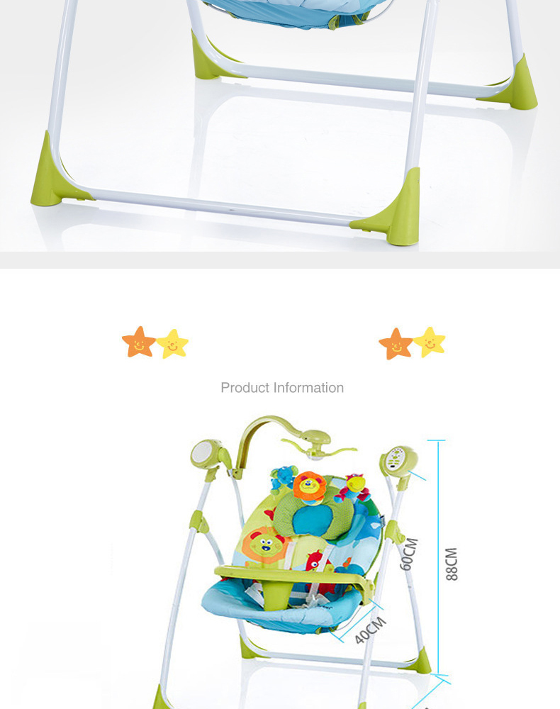 H8393297e93204ba4ae157353739c0661s Electric baby rocking chair with baby comforter baby cradle sleeping recliner child shaker dinner plate multifunctional
