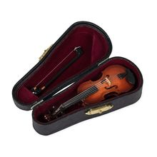 Big deal Gifts Violin Music Instrument Miniature Replica with Case, 10×3.5cm