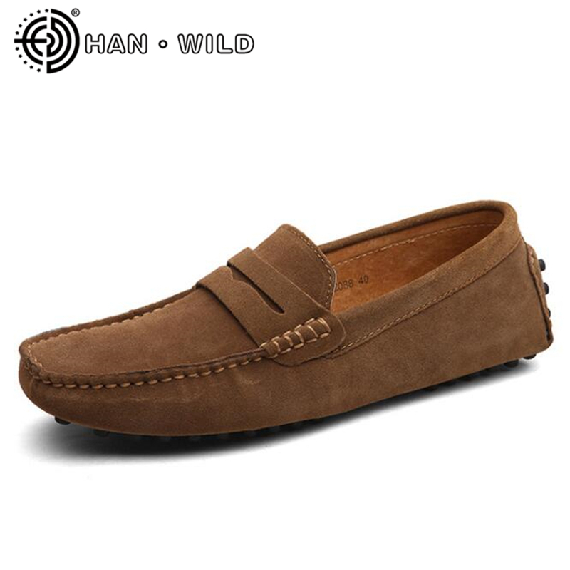 Brand Fashion Mens Genuine Leather Flats Soft Moccasins Men Loafers Slip On Men's Driving Shoes Cow Suede Casual Zapatos Hombre