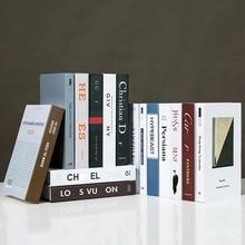 Faux livres décoration pour la maison livres décoratifs moderne Simulation mode Faux livre luxe décor à la maison Club hôtel modèle chambre doux