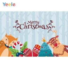Yeele Christmas Photocall Pines Snow Decor Elk Fox Photography Backdrops Personalized Photographic Backgrounds For Photo Studio