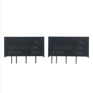Image 1 - 5PCS B1212S 2W SIP 4 B1212S DC DC di Commutazione modulo di alimentazione 12V a 12V Isolato chip di potenza 100% Nuovo e originale