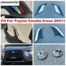 Front Bumper Fog Lights Lamps Eyelid Eyebrow Stripes / Frame Cover Trim ABS Chrome Accessories For Toyota Corolla Cross 2021