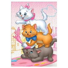 Diamond Cat Mosaic Home Decoration Embroidery 5Ddiy Full Circle Painting Cross Stitch Kit Animal Cartoon Picture
