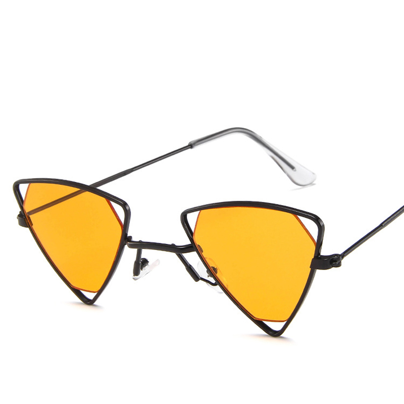 Vintage Sexy Triangle Sunglasses Women Men Metal Frame Black Red Yellow Pink Sun Glasses Retro Shades UV400 Cool Eyewear in Women 39 s Sunglasses from Apparel Accessories