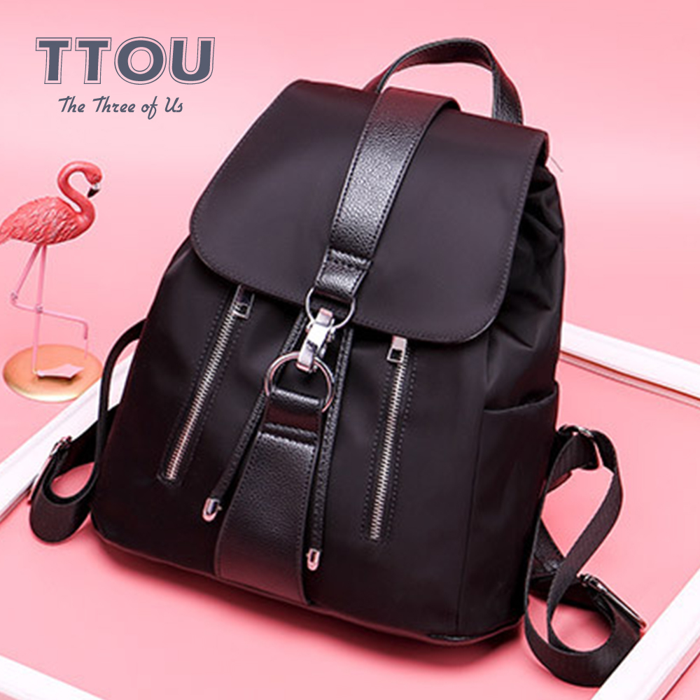 2020 New Fashion Style Waterproof Nylon Women Backpack Casual Ladies Travel Bags Large Capacity Bag Girl Leisure College Bags