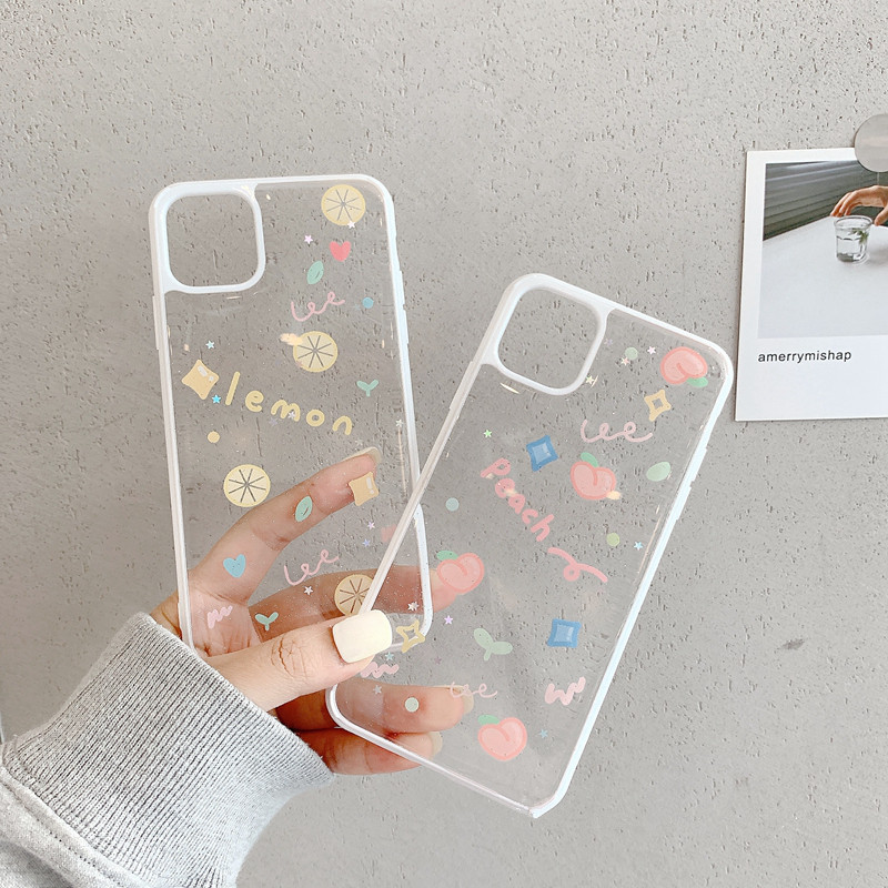 Luxury Glitter Transparent Case For iphone 11 Pro Xs Max SE 2 2020 case 7 8 plus X XR Back Cover Cute Clear Siliocne Soft Capa image
