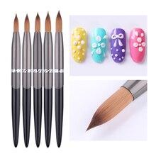 1Pc Acrylic Nail Brush Wooden Handle Soft Brushes Nail For Acrylic Powder Design Nail Gel Brush For Nail Manicure DIY Tool