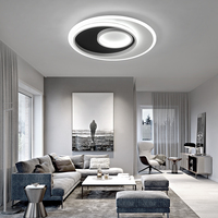 Luminaires Modern Led Ceiling Light For Home Living room Bedroom Light Fixture White+Black Acrylic Chandelier Ceiling Lamp