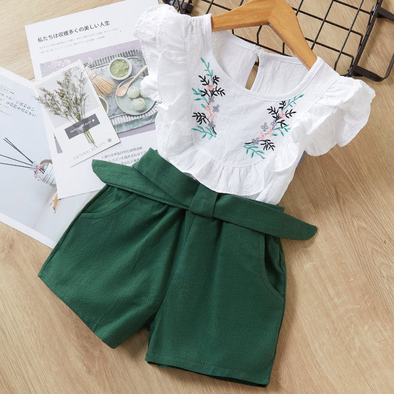 Melario Kids Girls Clothing Sets Summer Baby Girls Clothes T-Shirt and Jeans Shorts Suit 2Pcs Children Clothes Suits 3