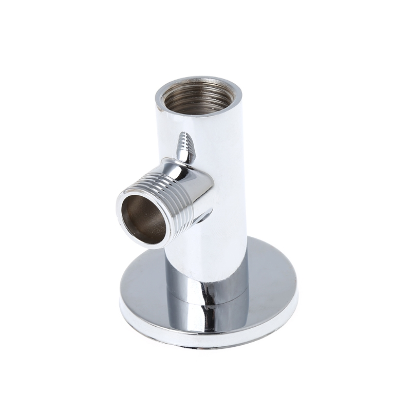 Chrome Shower Arm Flange Holder Brass Hose Connector Wall Suction Cup Wall Mount 964E