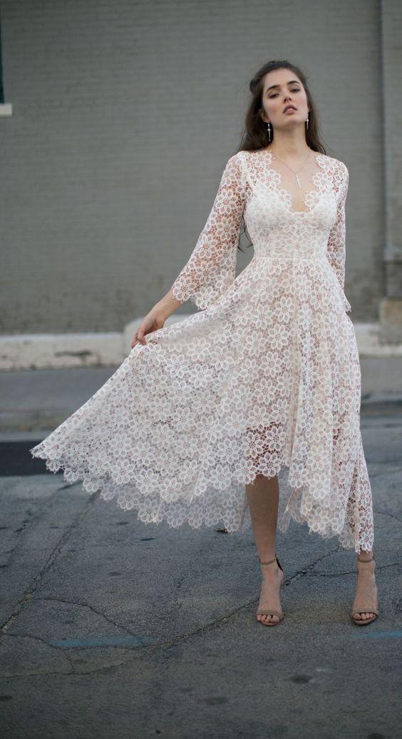 Linglewei New Spring and Summer Women's Dress sexy V-Neck long sleeve dress