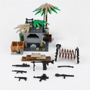 Image 4 - NEW WW2 Military German Army Soldier Figures Blocks Toys Typ 82 Kubelwagen Weapons Accessories Blocks Bricks Toys for Children