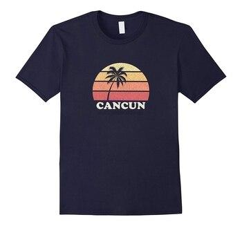 Nueva camisa de los hombres Cancún México Vintage T camisa Retro 70s retroceso Tee diseño