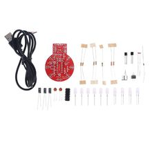 1Set Sound and Light Control Delay Light Kit DIY Melody Lamp Electronic Kits Small Night Lamp Tools Easy Installation sound control electronic crystal column making light of cubic led diy producing sound music spectrum parts kit