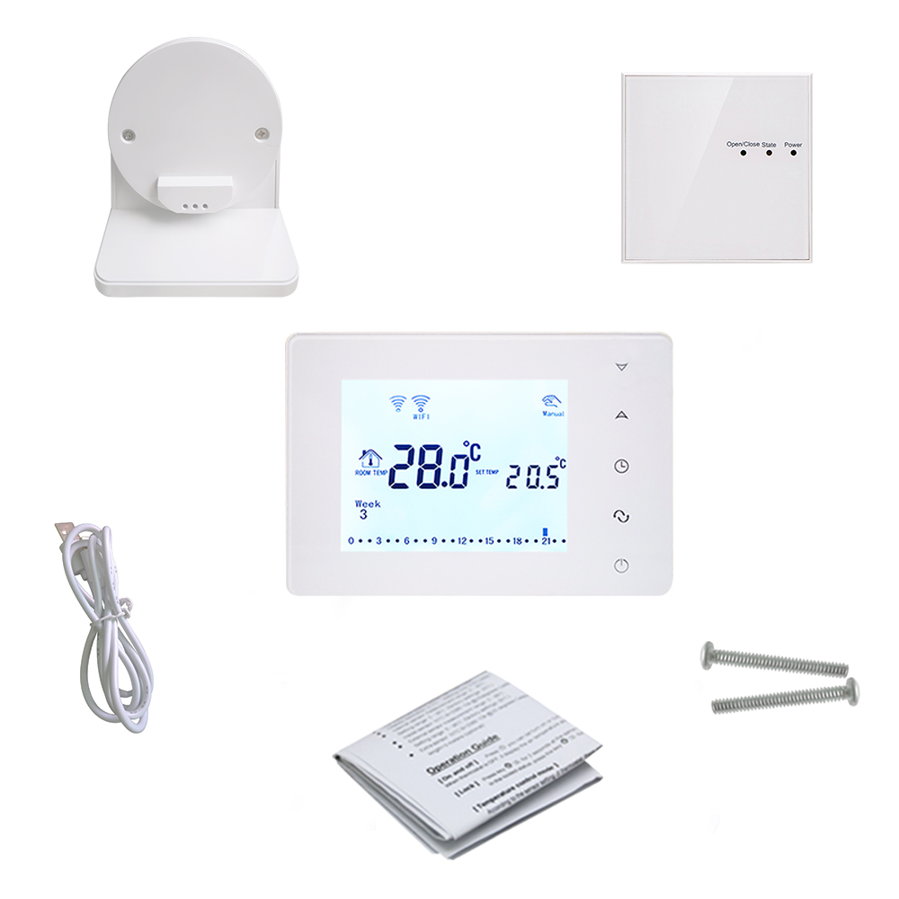 Image 5 - Beok BOT306RF WIFI  Wireless Thermostat for Gas Boiler Smart Home Temperature Controller Work with Google Home & Alexa-in Temperature Instruments from Tools