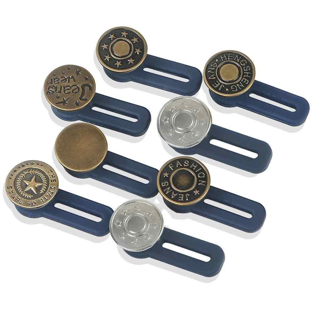 กางเกงยีนส์ปุ่มพอดีกับกางเกงยีนส์ใดๆเพิ่มลดเอวเปลี่ยน Secure-Lock Fastener ชุดซ่อมเย็บ DIY