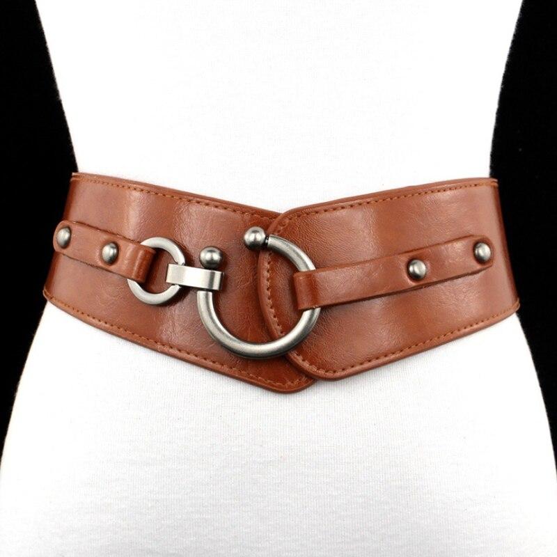 Plus Size Belt Woman Wide Corset Belt Big Belts For Women PU Leather Designer Cinturon Mujer Western Waist Dress Waistband
