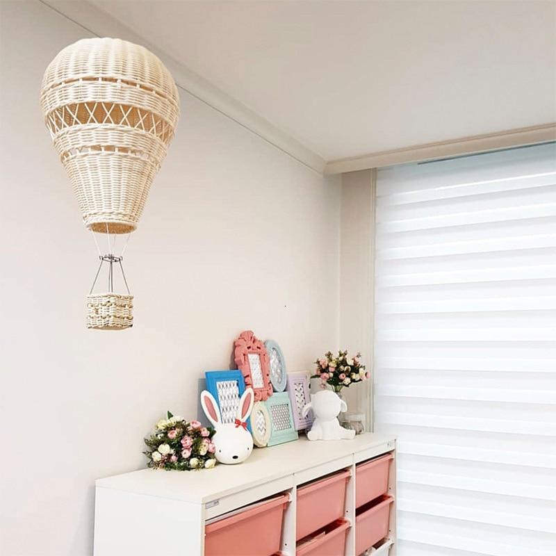 Украшение для детской комнаты ручной работы в скандинавском стиле, украшение для детского сада, плетение из ротанга, воздушный шар, Настенный декор|Ловцы снов и подвесные украшения|   | АлиЭкспресс - Товары для детской
