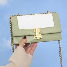 Двухслойная маленькая квадратная сумка на цепочке, дамские сумочки на шпильке, модные летние модельные ранцы