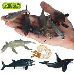 6 шт. имитация морской жизни животных мини доисторические рыбы трилобитов китов фигурку детям познавательные сбора модель игрушки