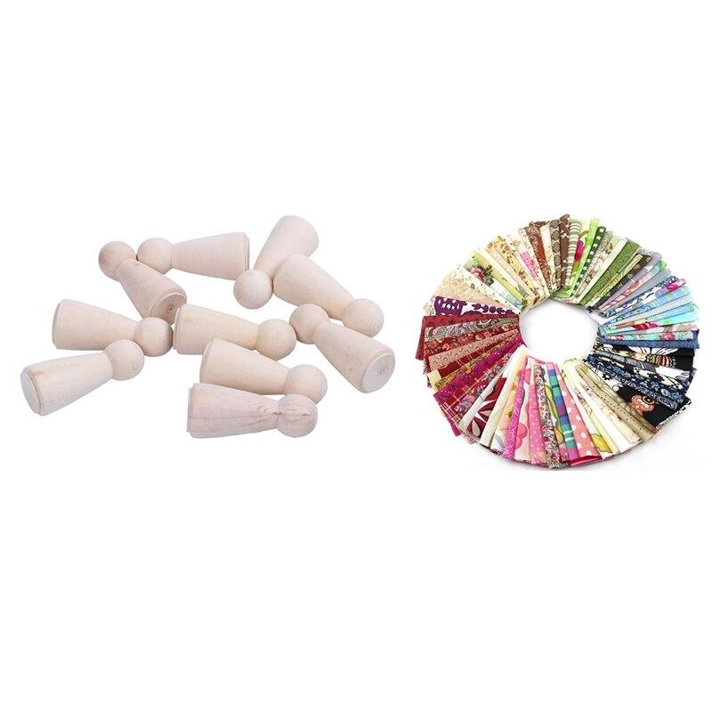 Ev ve Bahçe'ten Heykelcikler ve Minyatürler'de Kumaş Patchwork zanaat pamuk malzeme Batiks karışık kareler paketi  10X10 Cm  50 Pack ile bitmemiş ahşap bebek organları Mom/bir title=