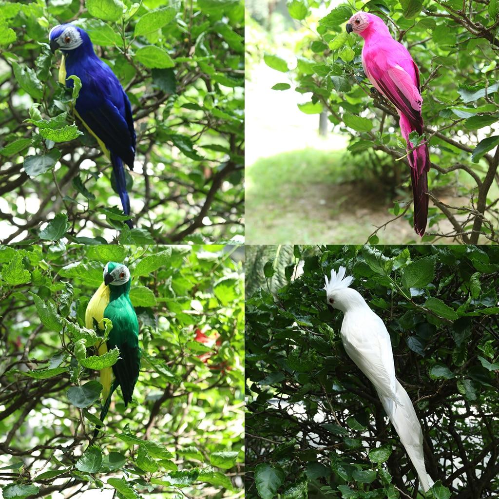 4PCS Parrot Statue Ornament <font><b>Tree</b></font> <font><