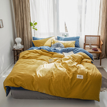 Modern Bedding Set Reactive Printing 100% washed cotton Bed yard dyed Nordic Style home textile
