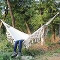 Гамак Бохо большой бразильский макраме бахрома 2 человека двойной Делюкс гамак сетка-качели стул Крытый висячий стул гамак качели