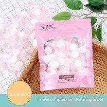 Towel Compressed-Wash-Towel 50pcs Mesh Disposable Travel Non-Woven Cotton