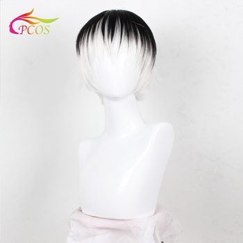 TOkyo Ghoul Cosplay Wig Sasaki Haise Ombre Anime Hair Wigs Black White Ombre Wigs брюки ombre ombre mp002xm1k5cj
