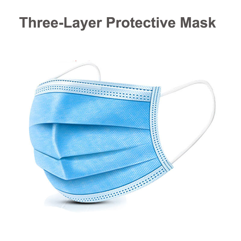 Outdoor Cycling Face Masks CE Verified 3-layer Protective Blue Mask 20/40pcs Disposable Earloop Personal Care Face Mouth Masks