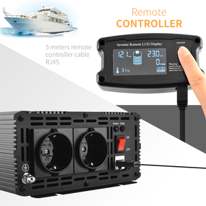 Image 2 - Convertitore di picco a onda sinusoidale pura 12V 220V 1500w convertitore di picco 3000w con telecomando LCD