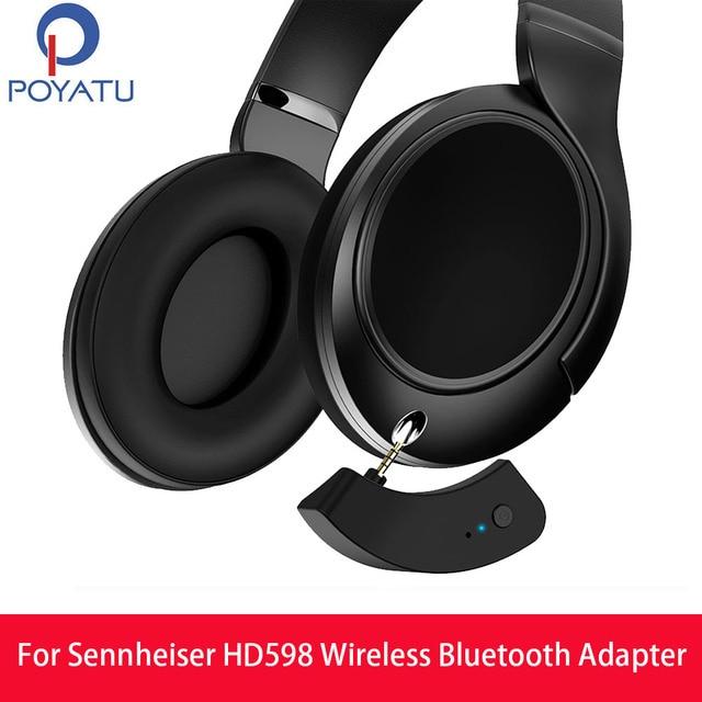 POYATU aptX Bluetooth Adaptörü Sennheiser HD599 HD579 HD569 Kablosuz Adaptör Alıcı Bluetooth kablo kordonu