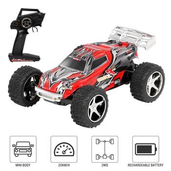 Wltoys 1/43 2019 RC Car 2.4G Mini RC Car Big Foot 20km/h High Speed RC Trunk Gift Toys for Children Kids Boys VS Wltoys 12428