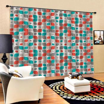 flower Decoration curtains Customized size Luxury Blackout 3D Window Curtains For Living Room custom curtains