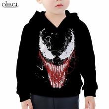 Superhero Hoodie Boy Girl Movie Venom Hoodies 3D Print Childrens Sweatshirt Casual Fashion Naughty Kids Streetwear Tops M011