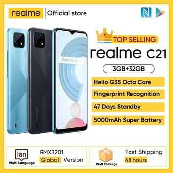 "realme C21 Smartphone Global Version Helio G35 Octa Core 3GB RAM 32GB ROM 6.5"" inch display 5000mAh Large battery 3-Card Slot 1"