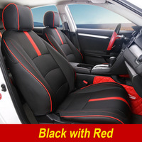 Car Styling Leather 4 Seasons Car Seat Covers Set For Honda 10th Civic 2016 Present Auto Seat Cover Cushion Internal Accessories