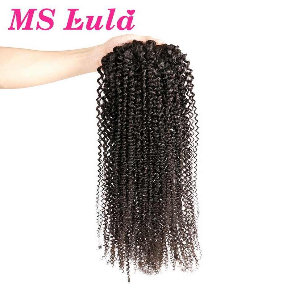 Mslula афро кудрявые шнурки заколка для хвоста в человеческих волос для наращивания бразильские Remy человеческие волосы конский хвост для черных женщин