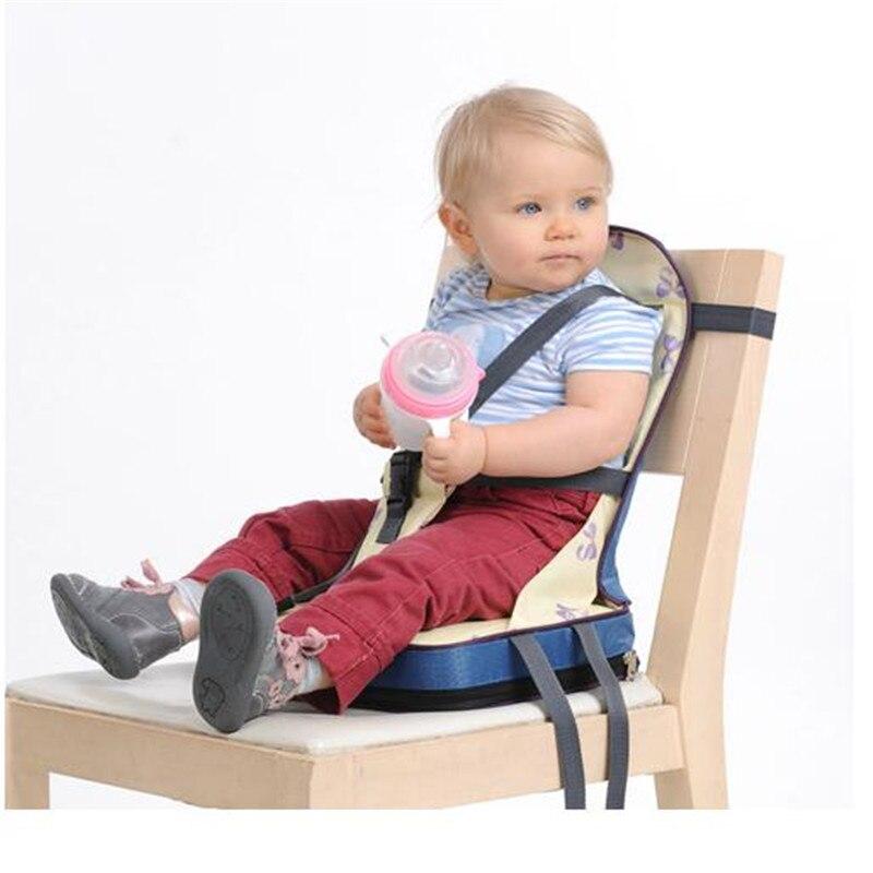Moda bebê portátil booster jantar cadeira oxford tecido à prova de água cadeira do bebê cinto segurança alimentação cadeira alta